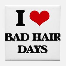 bad hair days Tile Coaster