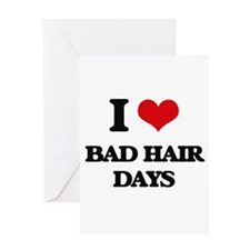 bad hair days Greeting Cards