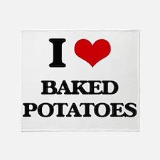 baked potatoes Throw Blanket