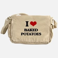 baked potatoes Messenger Bag