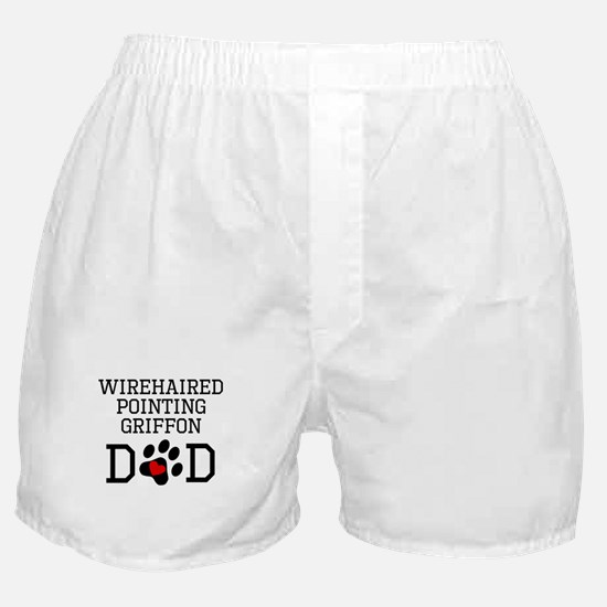 Wirehaired Pointing Griffon Dad Boxer Shorts