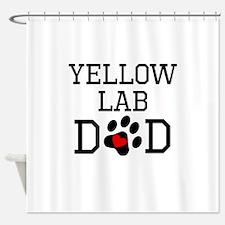 Yellow Lab Dad Shower Curtain