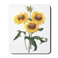 Redoute Sunflowers Mousepad
