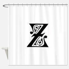 Z-pre black Shower Curtain