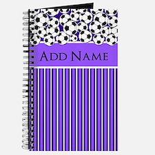 Soccer Balls purple white stripes Journal