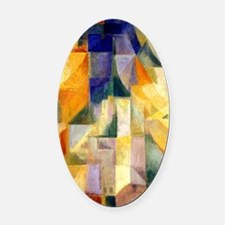 Delaunay - Simultaneous Window Oval Car Magnet