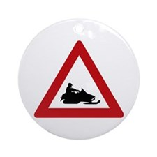 Scooter Track (1), Norway Ornament (Round)