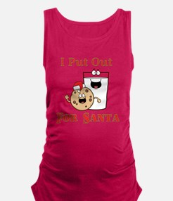I Put Out For Santa Maternity Tank Top