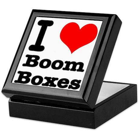 I Heart (Love) Boom Boxes Keepsake Box