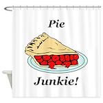 Pie Junkie Shower Curtain