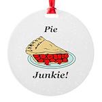 Pie Junkie Round Ornament