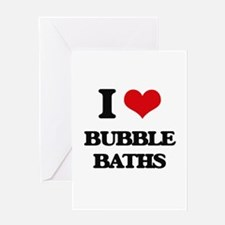 bubble baths Greeting Cards