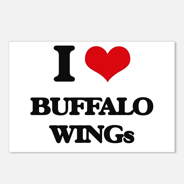 buffalo wings Postcards (Package of 8)