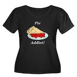 Pie Addi Women's Plus Size Scoop Neck Dark T-Shirt
