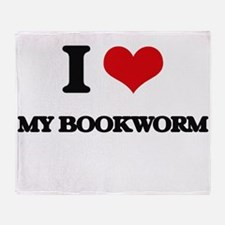 my bookworm Throw Blanket