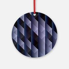 Geometric blue gray Ornament (Round)