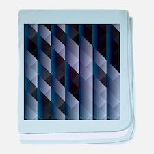 Geometric blue gray baby blanket