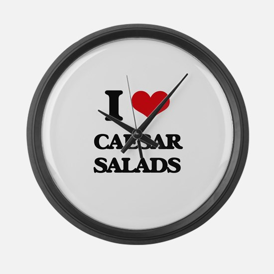 caesar salads Large Wall Clock