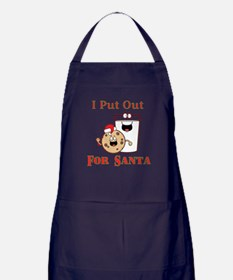 I Put Out For Santa Apron (dark)