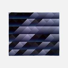 Geometric blue gray Throw Blanket