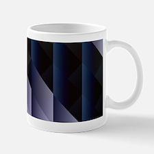 Geometric blue gray Mugs