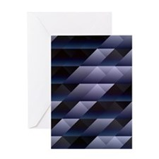 Geometric blue gray Greeting Cards