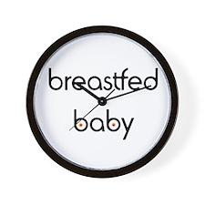 Breastfed Baby Wall Clock