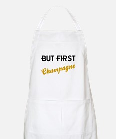 But First Champagne Apron