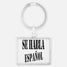 Aqui Se habla Espanol Landscape Keychain