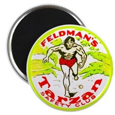 """Tarzan Safety Club 2.25"""" Magnet (10 pack)"""