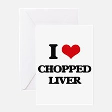 chopped liver Greeting Cards