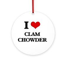clam chowder Ornament (Round)