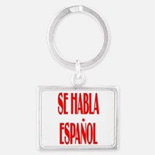 Se habla espanol Landscape Keychain