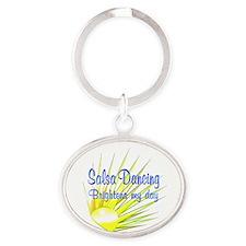 Salsa Brightens Oval Keychain