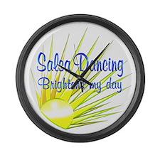 Salsa Brightens Large Wall Clock