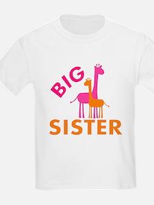 Big Sister Giraffes T-Shirt