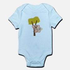 Cute Baby Koala Bear and Mommy on tree Body Suit