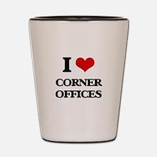 corner offices Shot Glass