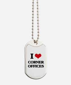corner offices Dog Tags