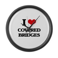 covered bridges Large Wall Clock