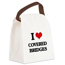 covered bridges Canvas Lunch Bag
