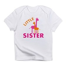 Little Sister Giraffes Infant T-Shirt
