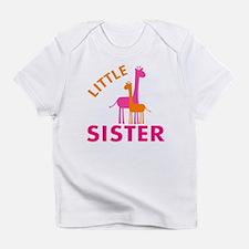 Little Sister Giraffes Infant T-Shirt