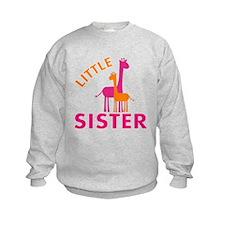 Little Sister Giraffes Sweatshirt