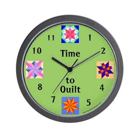 Time to Quilt Wall Clock