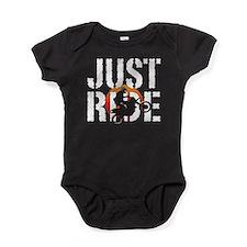 Funny Bike jump Baby Bodysuit