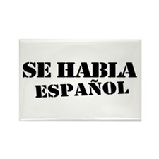 Se habla espanol Rectangle Magnet (10 pack)