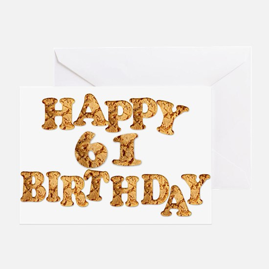 61st birthday card for a cookie lover Greeting Car