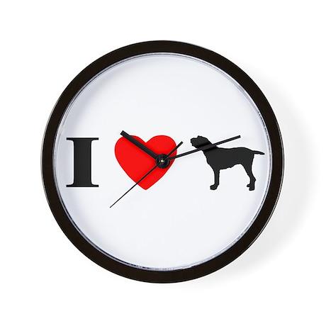 I Heart Spinone Italiano Wall Clock