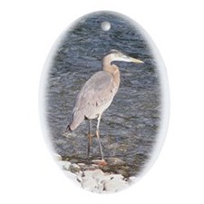Great Blue Heron Oval Ornament